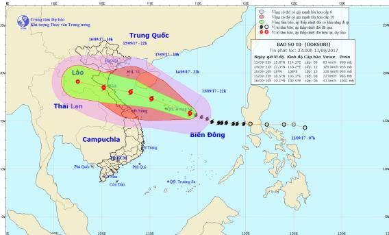 Bão số 1 là cơn bão mạnh nhất đổ bộ vào nước ta từ đầu năm nay. Ảnh: TTDBKTTVTW