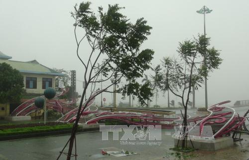 Nhiều công trình công cộng ở Quảng Ninh bị tàn phá. Ảnh: TTXVN
