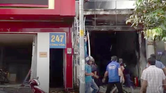 Hiện trường vụ cháy lớn ở TP. Hồ Chí Minh. Ảnh: TP. Hồ Chí Minh