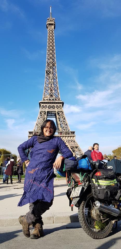 Paris, điểm đến cuối cùng của chặng 1 trong hành trình xuyên lục địa