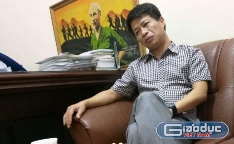 Ông Nguyễn Thế Mỹ, Hiệu trưởng Trường trung học cơ sở Vân Nội vừa bị kỷ luật khiển trách. Ảnh: Xuân Quang.