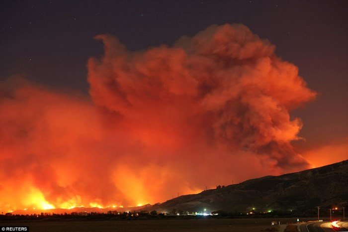 Cháy rừng ở California gây thiệt hại nặng nề. Ảnh: Reuters