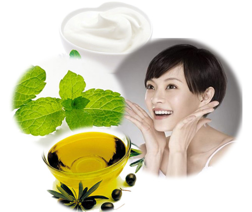 Kết hợp lá bạc hà với dầu ô liu và sữa chua để dưỡng trắng da toàn thân hiệu quả nhất