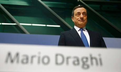 Chủ tịch ngân hàng Châu Âu Mario Draghi công bố kế hoạch kích cầu