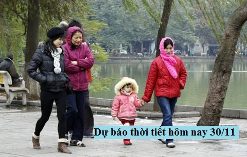 Du-bao-thoi-tiet-hom-nay-30-11