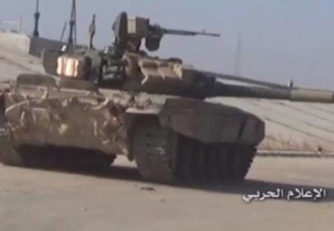 Xe tăng T-90 quân đội Syria tại Aleppo