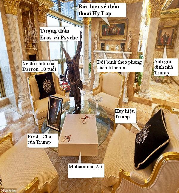 Bên trong biệt thự dát vàng xa xỉ của Tổng thống Mỹ Donald Trump