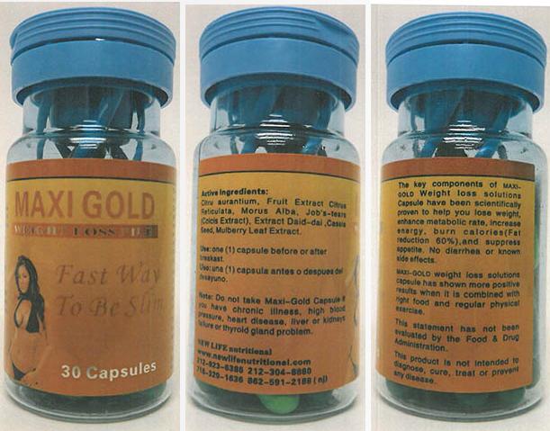 Thuốc giảm cân Maxi Gold Capsules