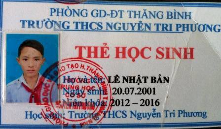 Ảnh thẻ của hai em học sinh mất tích bí ẩn từ ngày 4/12 ở tỉnh Quảng Nam