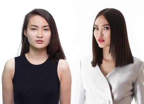 Hà Thị Út Trang là cô gái từng bị Thanh Hằng cắt phăng mái tóc dài trong vòng sơ tuyển. Với tâm thế đó, cô bước vào thi này rất bình tĩnh.