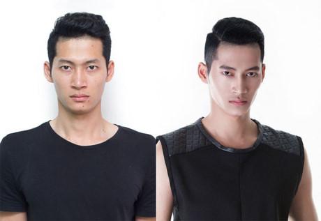 Thí sinh Hoàng Minh Tùng trẻ trung, mạnh mẽ hơn với kiểu tóc mới.