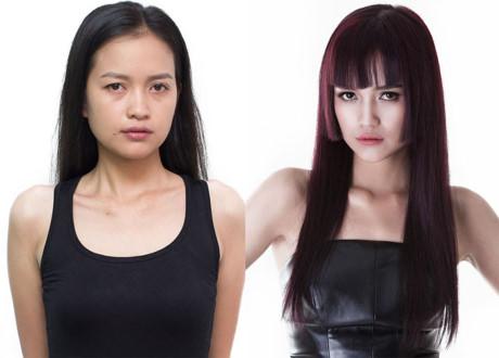 Nguyễn Thị Ngọc Châu gây bất ngờ với diện mạo mới sau khi thay đổi. Kiểu tóc mái bằng với lớp layer ngang cằm giúp cô nàng trở nên đầy hiện đại, ra dáng một người mẫu chuyên nghiệp.