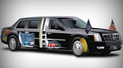 Mặc dù mang một số điểm tương đồng với một số chiếc Cadillac khác, nhưng chiếc limousine của Tổng thống Mỹ gần như hoàn toàn khác mọi chiếc xe đang có trên thị trường, ngay cả mui xe, logo Cadillac cũng khác so với những chiếc xe khác.