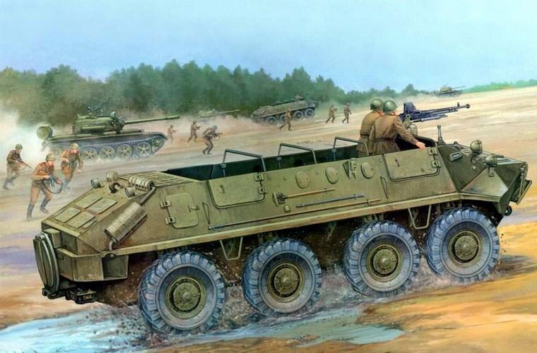 """BTR-60 thuở còn chưa có mui xe. Thiết kế này rất dễ """"ăn"""" lưu đạn của đối phương ném vào bên trong gây thương vong lớn."""