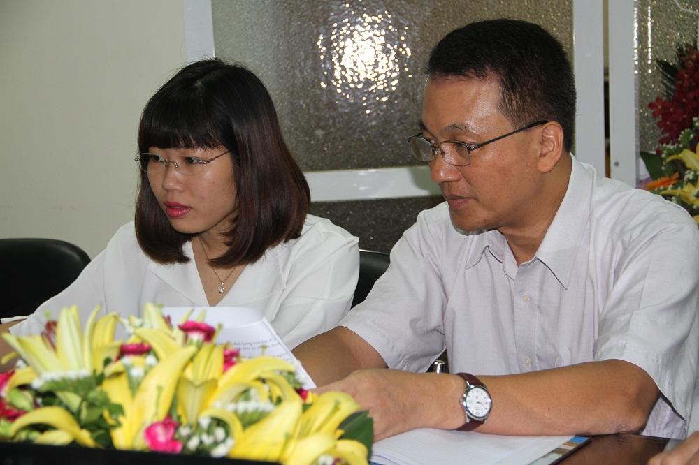 Ông Nguyễn Hùng Điệp tại chương trình giao lưu trực tuyến