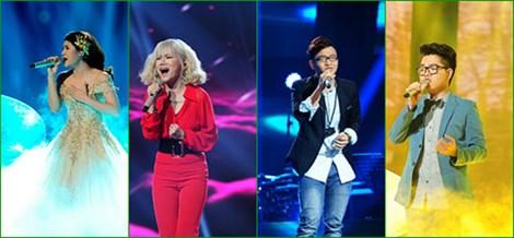 4 thí sinh của đêm chung kết Giọng hát Việt 2015