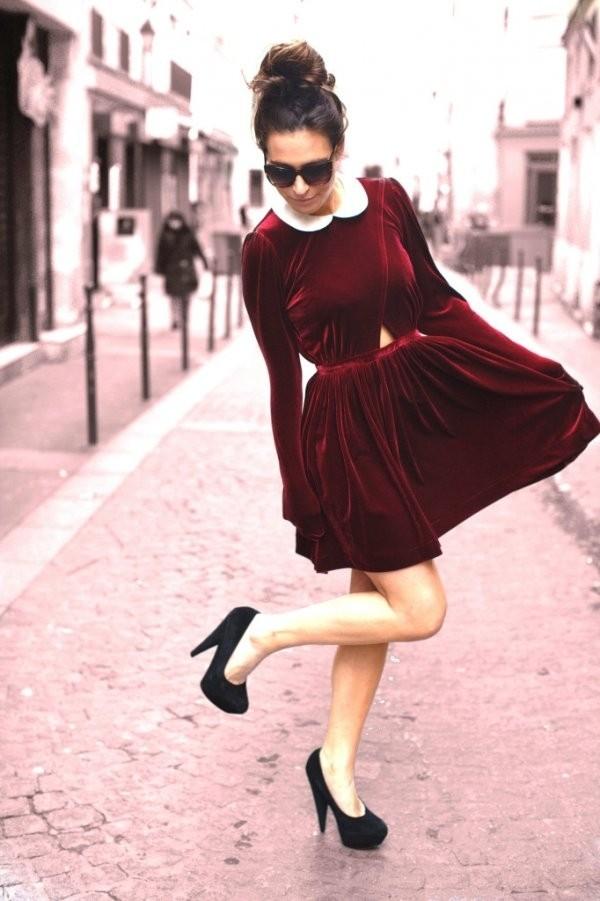Quần áo mùa đông 2014: Màu đỏ burgundy là một trong những màu được yêu thích trong mùa đông