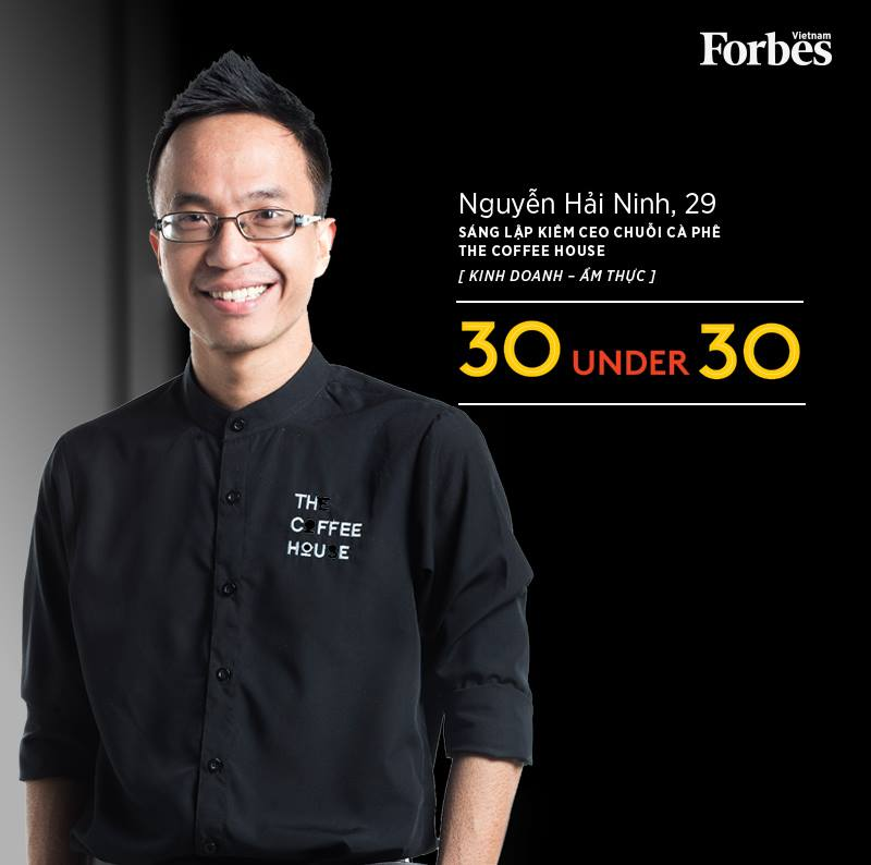 Nguyễn Hải Ninh cũng từng lọt Top 30 gương mặt trẻ dưới 30 nổi bật nhất Việt Nam do Forbes Việt Nam bình chọn
