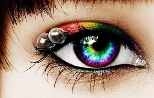 Sử dụng kính áp tròng cũng tương tự như những mốt thời trang