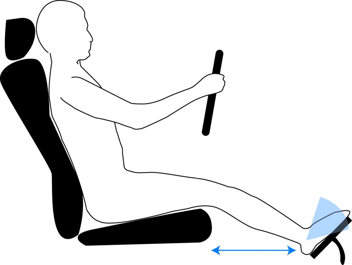 Điều chỉnh ghế ngồi trước khi lái xe