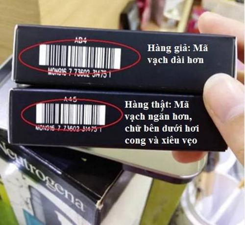Check mã vạch (barcode) để nhận biết hàng giả