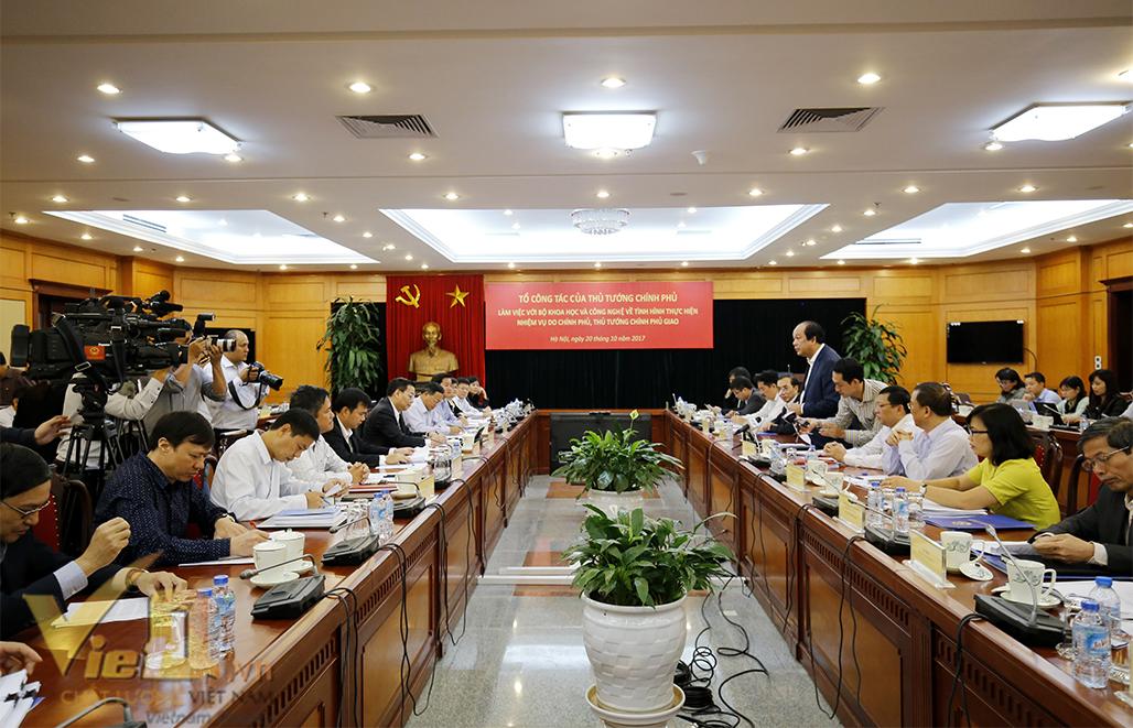 Sáng nay Tổ Công tác của Thủ tướng Chính phủ làm việc với Bộ KH&CN - ảnh 3