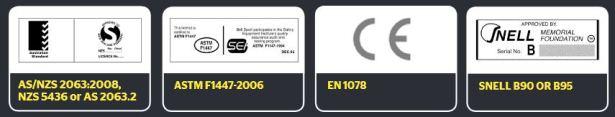 4 trong số 5 mác hay nhãn dán Tiêu chuẩn được thiết kế theo một biểu mẫu chuẩn
