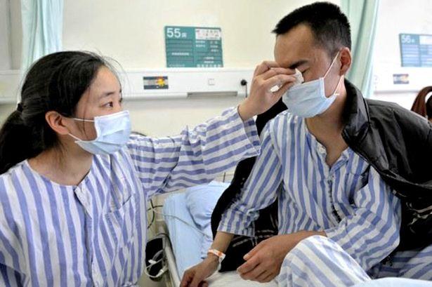 Xuping chấp nhận hiến thận cho chồng để trả ơn cứu mạng. Ảnh Mirror