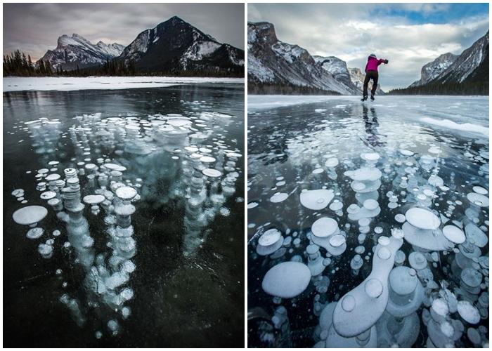Hiện tượng bí ẩn tại hồ Abraham thực chất là các bong bóng khí metan bị kẹt dưới lớp băng