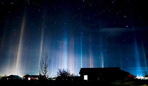 Cột sáng từng một thời là hiện tượng bí ẩn rất được quan tâm