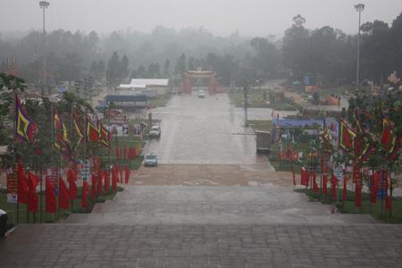 Quang cảnh đền Hùng sau hiện tượng bí ẩn 'mưa rửa đền'