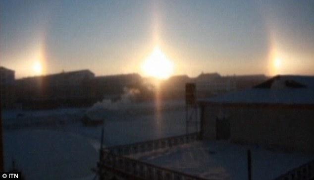 Hiện tượng bí ẩn 3 mặt trời xuất hiện trên bầu trời
