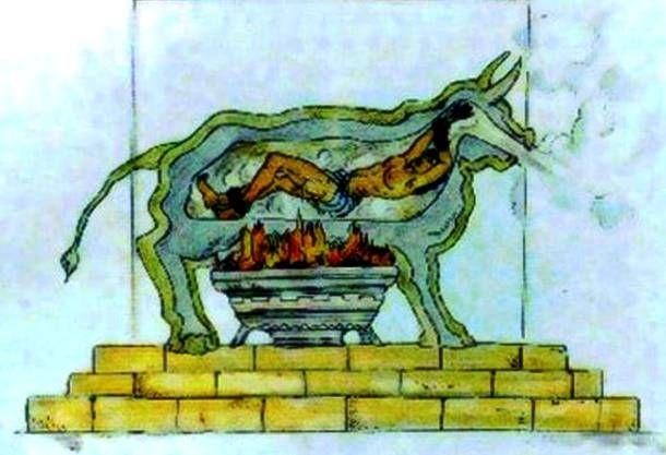 Hình thức tra tấn tù nhân bằng con bò đồng bắt nguồn từ Hy Lạp cổ đại
