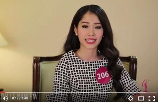 Nam Em lên tiếng bảo vệ loài chó và phần trả lời về tính cách của mình với ban tổ chức Hoa hậu Hoàn vũ 2015