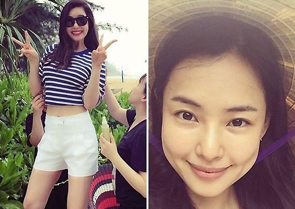 Honey Lee thích thú đội nón lá Việt Nam