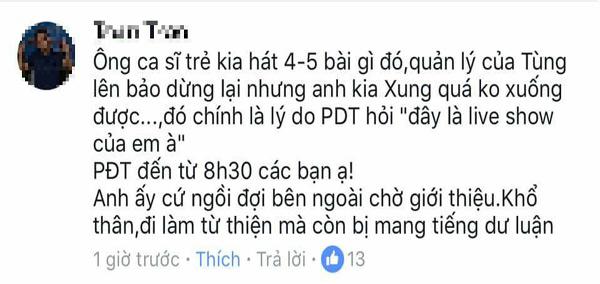 Ca sĩ Phan Đinh Tùng bị tố cướp micro, coi thường nghệ sĩ trẻ