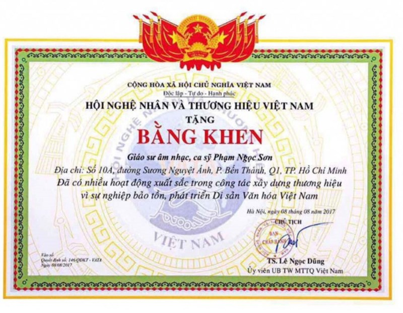 Đơn vị trao bằng khẳng định không phong tặng 'giáo sư âm nhạc' cho Phạm Ngọc Sơn