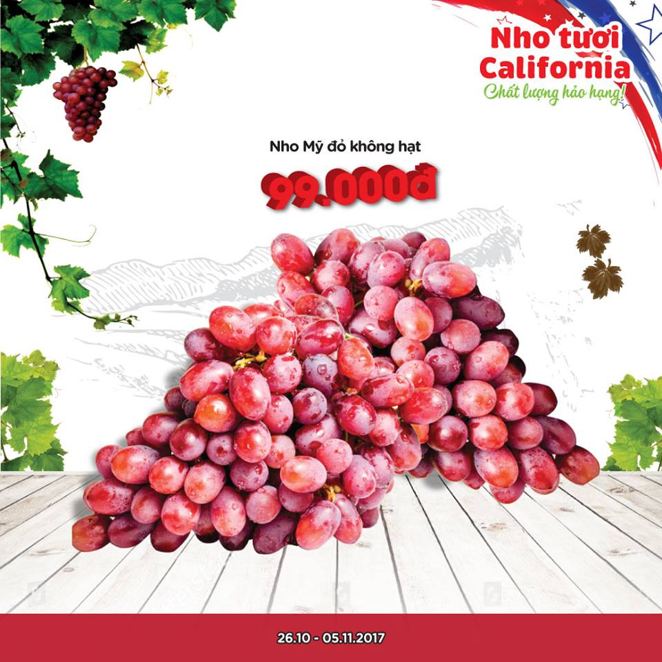 Nho đỏ không hạt Nicolo Claret đại hạ giá gấp 3 lần giá thực, chất lượng thế nào?
