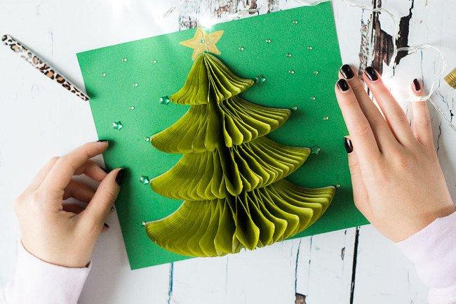 Hướng dẫn làm thiệp Giáng sinh handmade đẹp lung linh tặng người thân