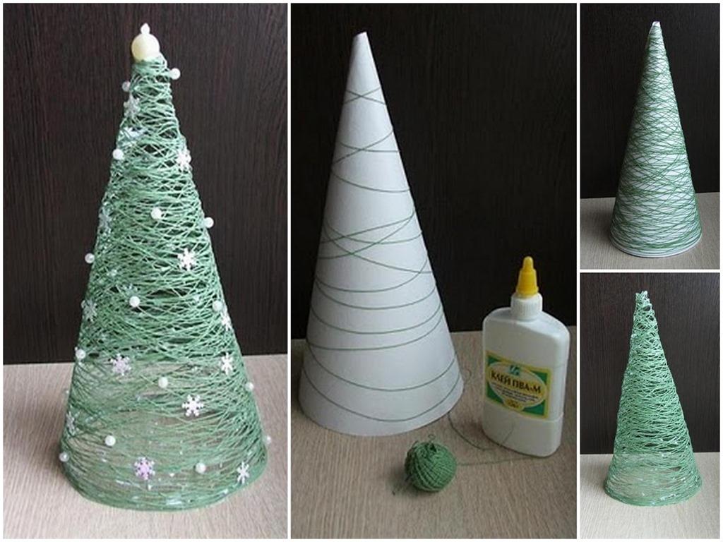Tự làm cây thông Noel trang trí góc làm việc công sở mùa Giáng sinh
