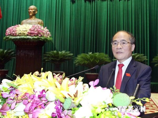 Chủ tịch Quốc hội Nguyễn Sinh Hùng phát biểu bế mạc Quốc hội