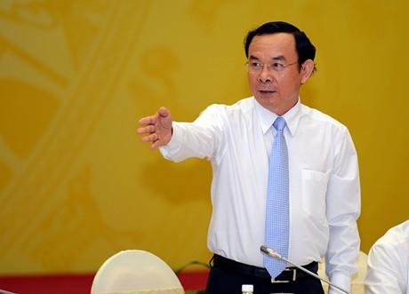 Bộ trưởng Nguyễn Văn Nên nói về việc bắt ông Hà Văn Thắm. Ảnh: Quang Hiếu