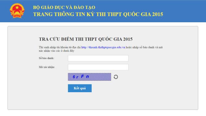 Xem điểm THPT Quốc gia 2015 ở 30 website chính thống