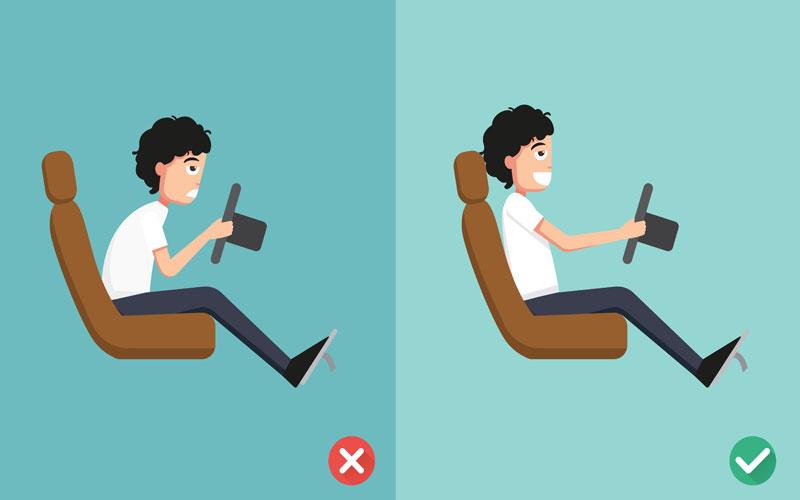 Những sai lầm cơ bản khi điều chỉnh tư thế lái xe ô tô – tài xế nên lưu ý