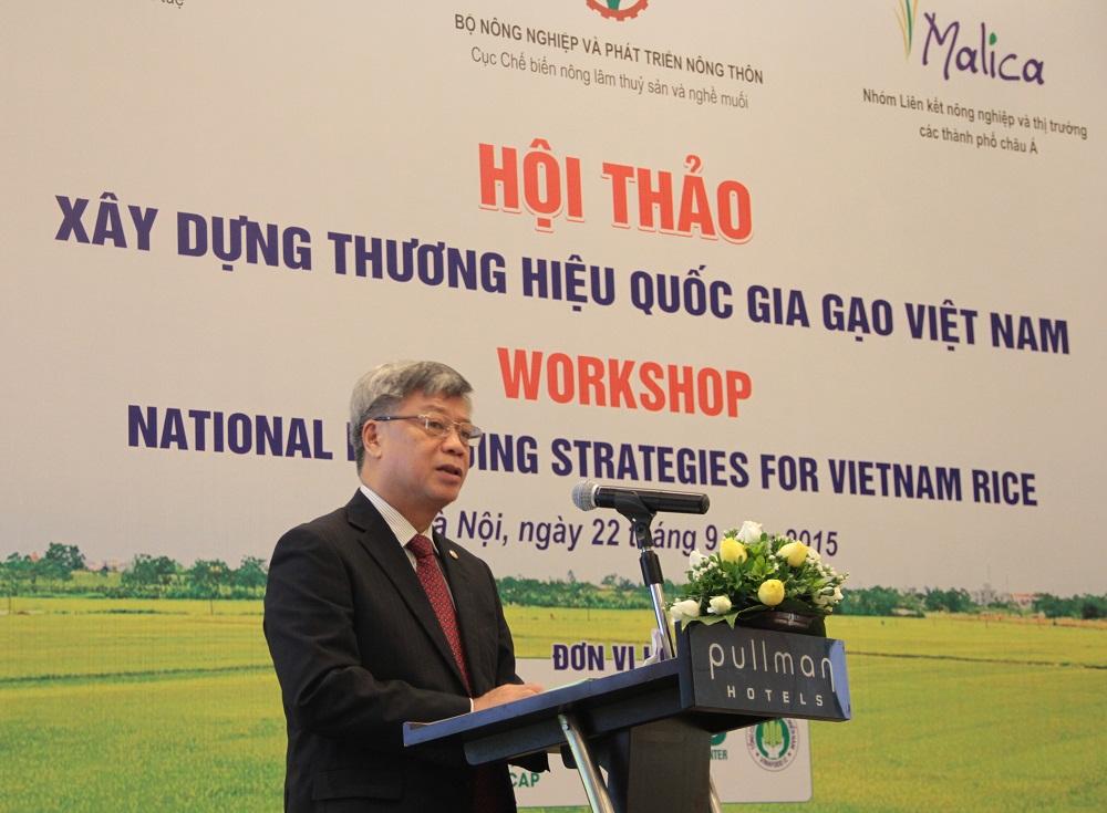 Thứ trưởng Bộ KH&CN Trần Việt Thanh cho biết, hiện nay có nhiều hỗ trợ giúp doanh nghiệp đăng ký thương hiệu, chỉ dẫn địa lý cho các sản phẩm nông sản, trong đó có sản phẩm gạo