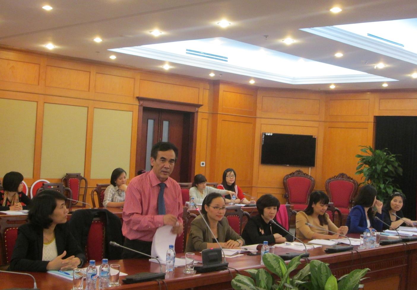 ông Nguyễn Xuân Toàn – Giám đốc Trung tâm Nghiên cứu và phát triển truyền thông phát biểu tại hội thảo