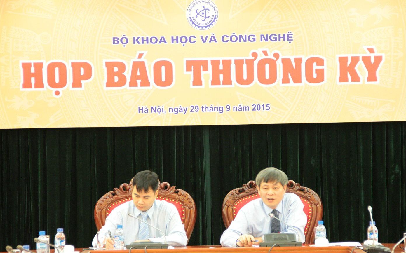 Thứ trưởng Phạm Công Tạc chủ trì họp báo