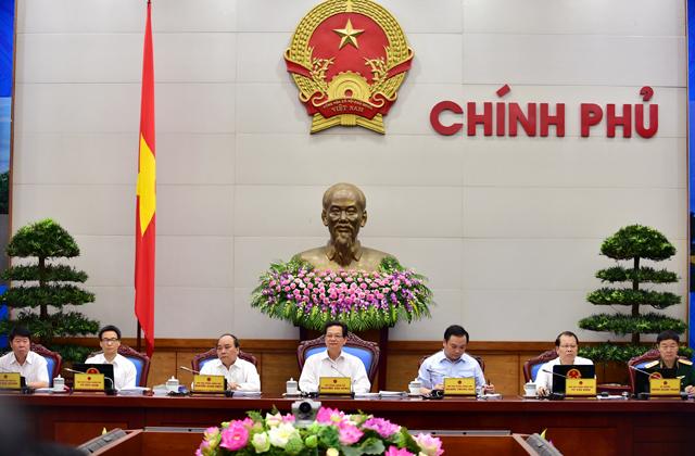 Các thành viên Chính phủ có mặt tại phiên họp
