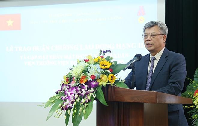 hứ trưởng Bộ KH&CN Trần Việt Thanh phát biểu tại buổi lễ