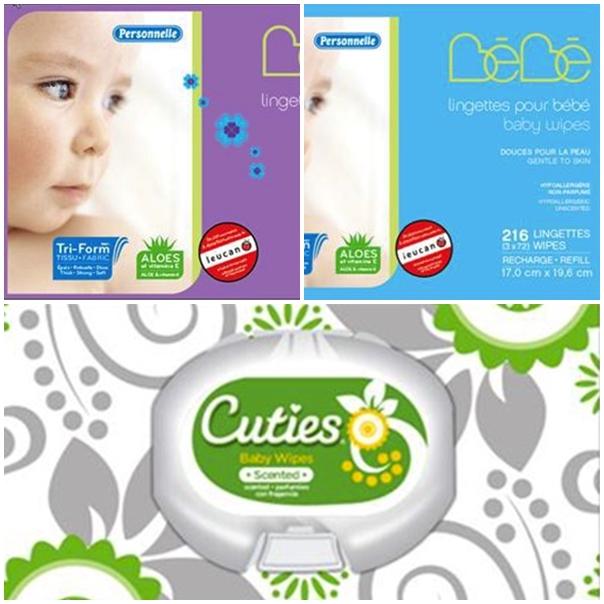Khăn giấy ướt cho trẻ thuộc thương hiệu Cuties và Personelle bị thu hồi tại Canada